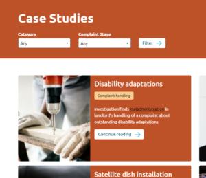 Case studies page screenshot image