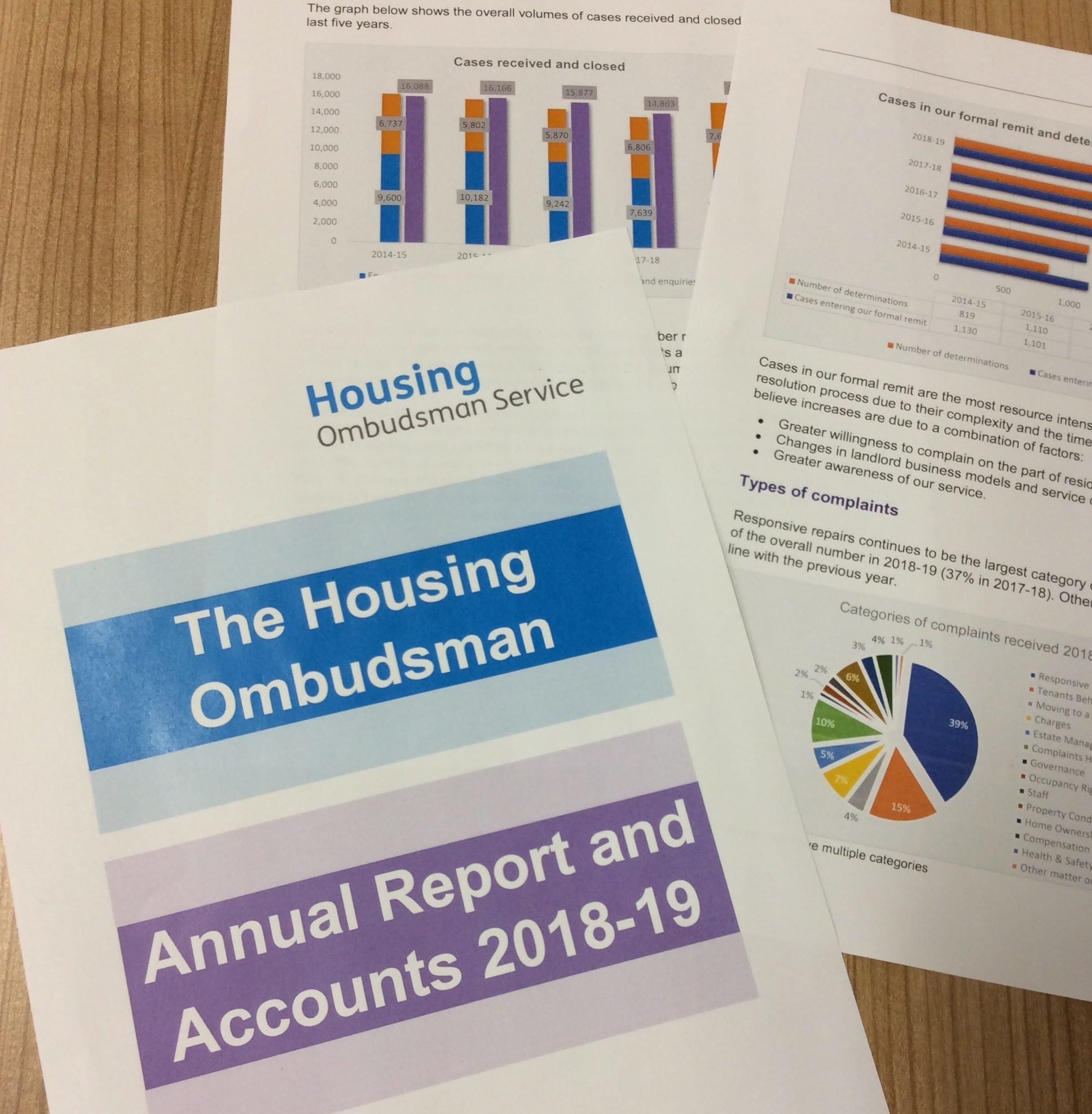 Housing Ombudsman Annual Report 2018-19 image