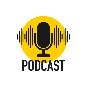 Graphic illustration of podcast
