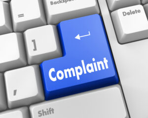 Complaint icon on keyboard